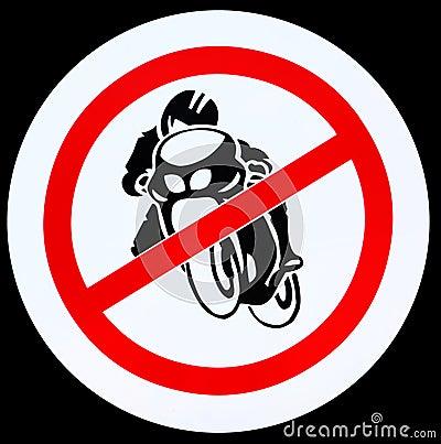 No motorcycle sign