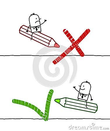 NO & OK signs Vector Illustration