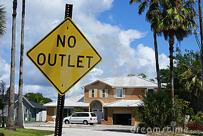 No outlet sign in Cocoa Beach