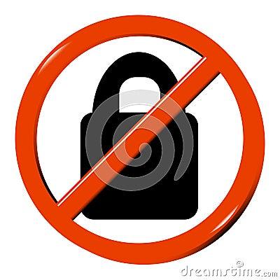 No padlock
