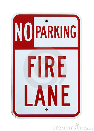 Free No Parking Fire Lane Sign - Isolated Royalty Free Stock Image - 1274906