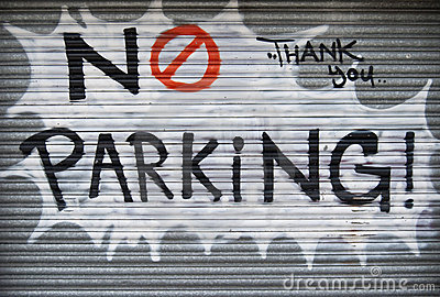 No parking graffiti