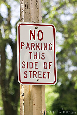 Free No Parking Sign Royalty Free Stock Images - 14583199