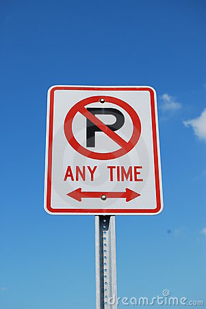 Free No Parking Sign Stock Photo - 4853160