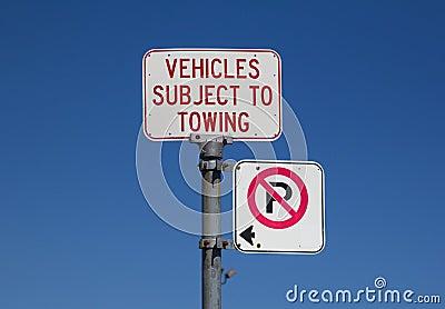 No Parking Warning Sign
