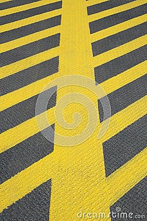 No parking yellow road marking