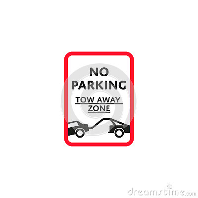 Free No Parking Zone Roadsign Isolated Royalty Free Stock Image - 90370396