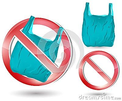 No plastic bag sign