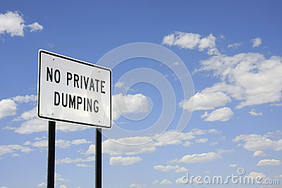 No private dumping