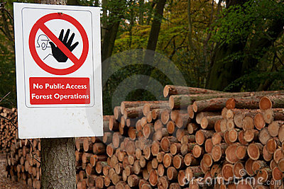 No public access forestry sign