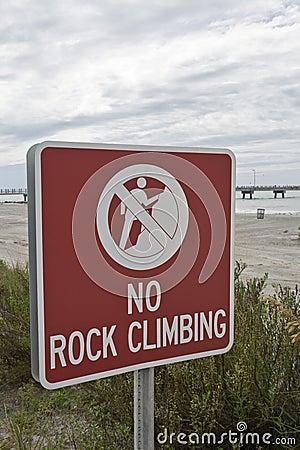 No Rock Climbing