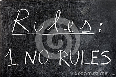 No Rules on Chalkboard