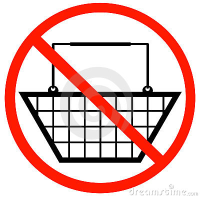 No shopping baskets