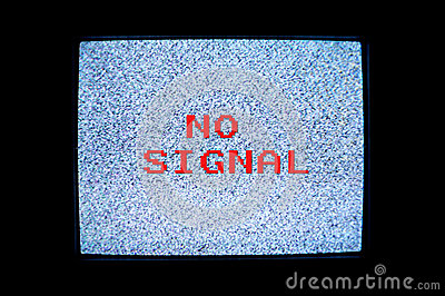 No Signal Tv Screen Royalty Free Stock Photography Image