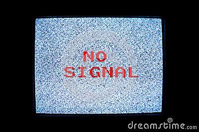 No Signal Tv Screen Royalty Free Stock Photography Image