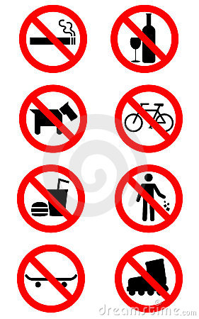 Free No Signs Stock Photos - 18973233