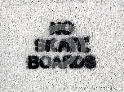 No Skate Boards