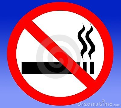 No smoking cigarettes prohibited banned forbidden