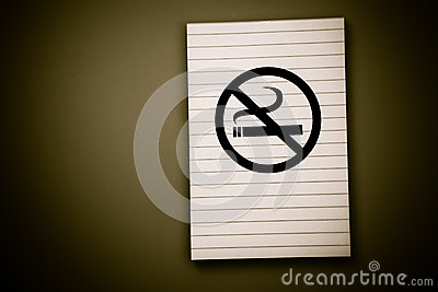 No smoking note pad
