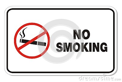 No smoking - rectangle sign