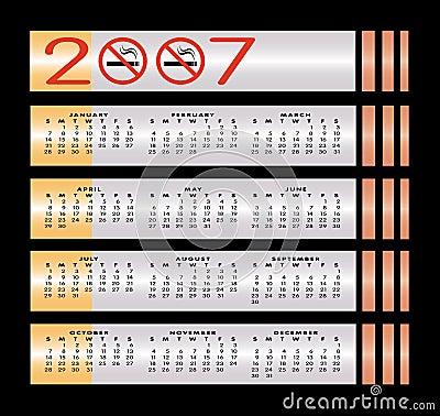 No smoking sign 2007 calendar