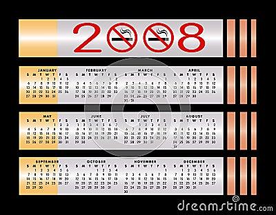 No smoking sign 2008 calendar