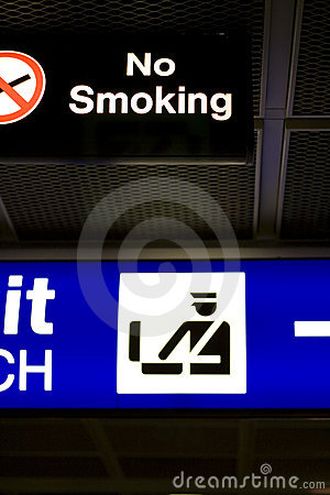 No Smoking Sign in Airport