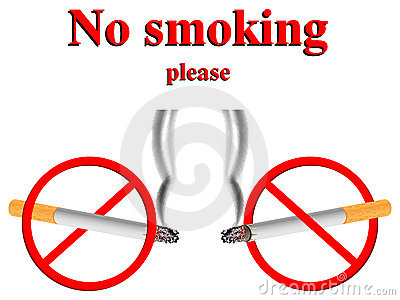 No smoking stylized signs