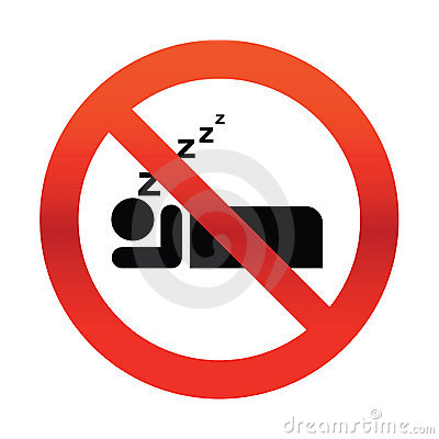 No Snoring Sign