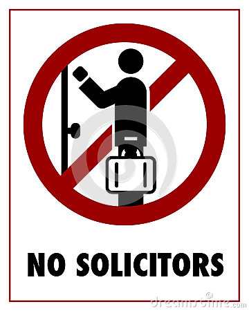 Free No Solicitors Royalty Free Stock Photography - 30560007
