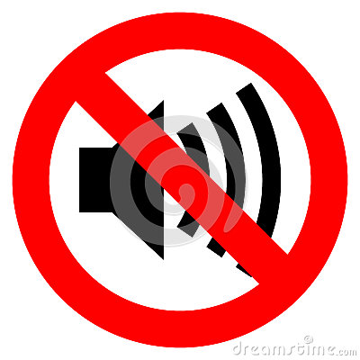 No sound vector sign