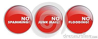 No spamming, no junk, no floding