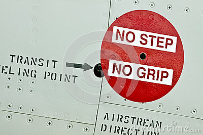 No Step No Grip Sign