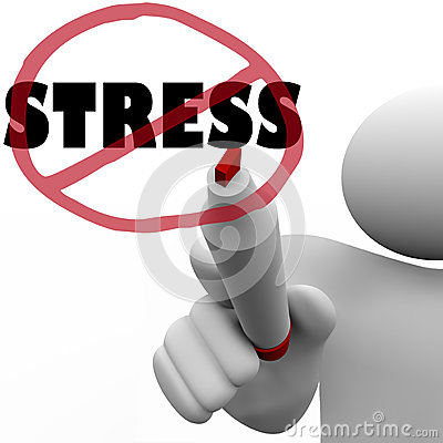 No Stress Man Draws Slash to Reduce Stressful Anxiety