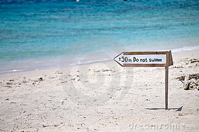 No swim signal