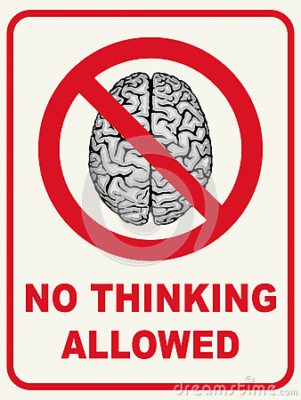 No Thinking Allowed