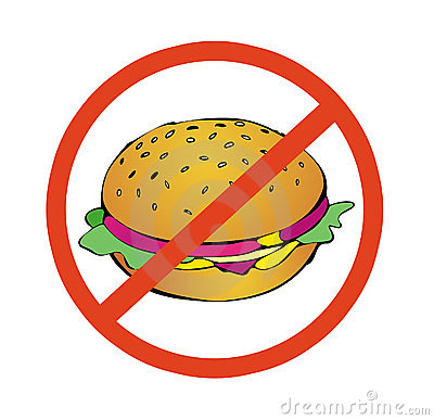 No to high calorie food
