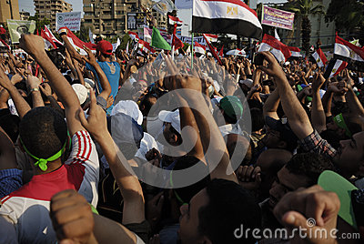 NO TO VIOLENCE in Support to Morsi Editorial Photography