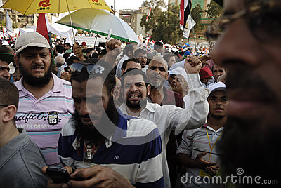 NO TO VIOLENCE in Support to Morsi Editorial Stock Photo