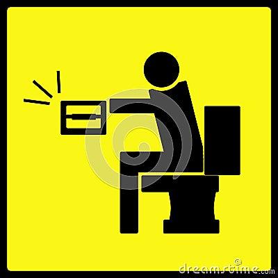 No Toilet Paper Warning Sign