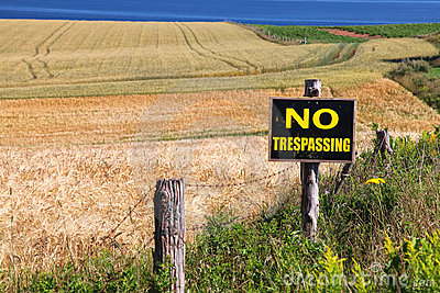 No Trespassing Farm sign