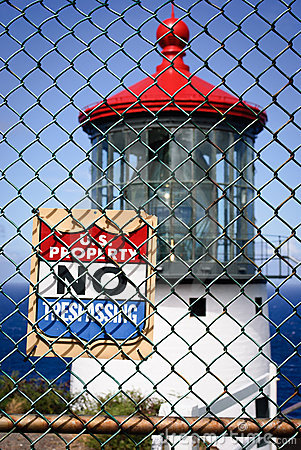 Free No Trespassing Light House Royalty Free Stock Photos - 21256338