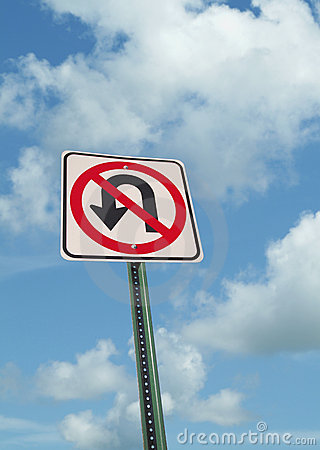 Free No U-turn Sign On Clouds Royalty Free Stock Photo - 6019855