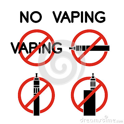 Free No Vape Icons. Vector Royalty Free Stock Photography - 57310097