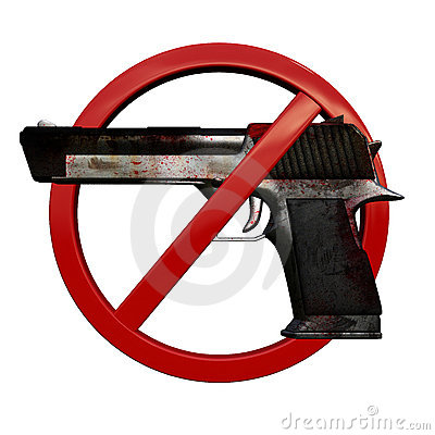 No weapons 3D sign