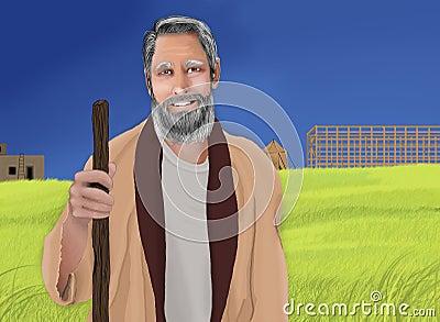 Noah and the Ark Cartoon Illustration