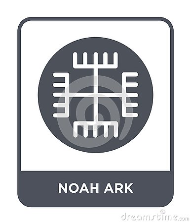 noah ark icon in trendy design style. noah ark icon isolated on white background. noah ark vector icon simple and modern flat Vector Illustration
