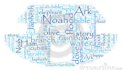 Noah s Ark Word Cloud