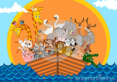Noah Ark Cartoon Illustration