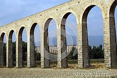 Noain s Roman aqueduct, Navarre, Spain.
